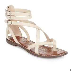 Cream Sam Edelman Gallagher sandals size 8